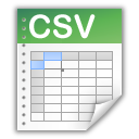 Oxygen Team spreadsheet file icon plus CSV
