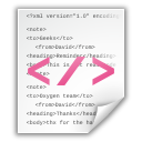 Oxygen Team text- XML file icon